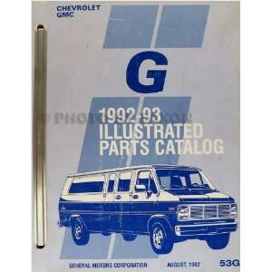 1992 1993 Chevrolet/GMC Full Sized Pickup Parts Book