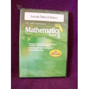 HOLT MCDOUGAL MATHEMATICS COURSE 3 LESSON TUTORIAL VIDEOS DVD ROM