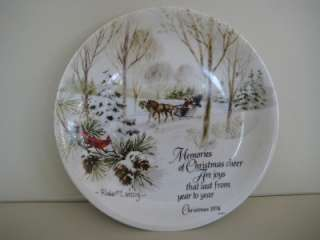 Robert Laessig,1974 Christmas WINTER Scene Series Plate