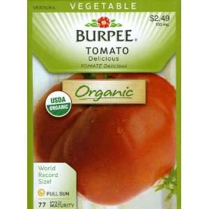 Burpee 67520 Organic Tomato Delicious Seed Packet Patio