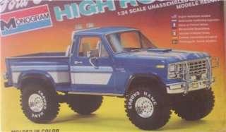 4x4 FORD F 150 HIGH ROLLER Monogram 124 SEALED Model Kit Pickup Truck