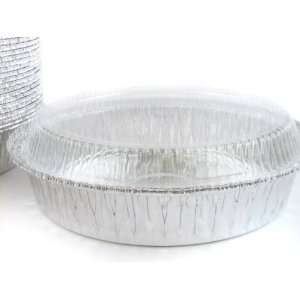 9 Round foil container with clear plastic dome lid #290P