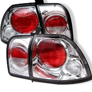 96 97 Honda Accord 2 / 4 door Tail Lights   Chrome (pair