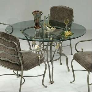 Base Finish Autumn Rust, Table Style 48 Round Furniture & Decor