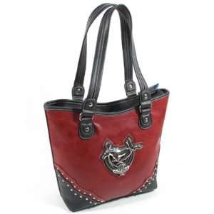Ford Mustang Purse   Red with Anniversary Emblem   Beautiful!