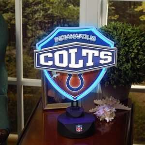 Indianapolis Colts NFL Neon Shield Table Lamp