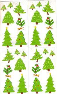 Tiny CHRISTMAS TREES* Mrs Grossmans STICKERS Holiday Two 2x6 Strips