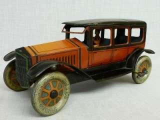 VERY RARE LARGE GERMAN DRGM PRE WAR TIN PLATE CAR & WORKING