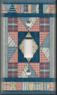 Light Switch Plate Cover   Americana Decor   Country Quilt