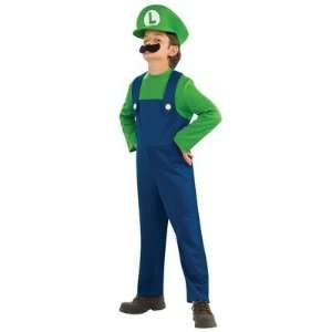 Rubies 883654 Super Mario Luigi Child Costume Size