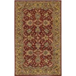 Chandra   Maya   MAY 4 Area Rug   59 Round   Red, Gold