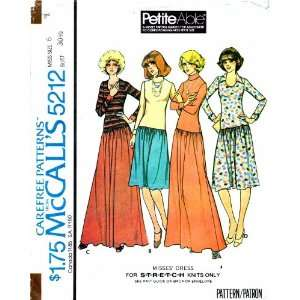 McCalls 5212 Vintage Sewing Pattern Womens Low Waist