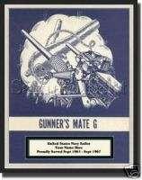 USN Navy Sailor Rate Print Gunners Mate G RATE Custom