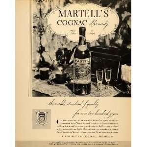 1934 Ad Martells Cognac Brandy France Park Tilford