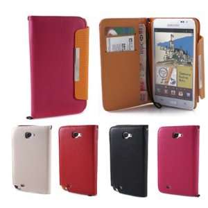 GMYLE(TM) Pink PU Leather Wallet magnetic Case Flip Cover with Money