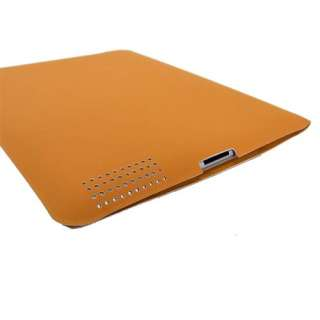 Orange Ultra Thin iPad2 Polyurethane Smart Cover Case