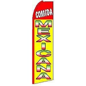 Comida Mexicana (Mexican Food) Swooper Flag: Home