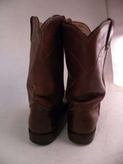 Justin Brown Leather 7.5 B Womens Western Boots