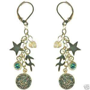 Kirks Folly Crystal Star Gazer Earrings Sagittarius Zodiac