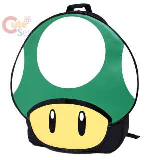 Nintendo Super Mario Green Mushroom Backpack 1 Up Bag