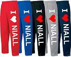 LOVE NIALL SWEATPANTS ONE DIRECTION sweatpants T SHIRT HOODIE MESH