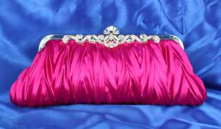 7385 Navy Blue Silver Ivory Pink Apricot Red Party Evening Clutch