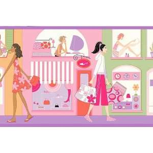 Purple Glamour Girls Wallpaper Border: Baby