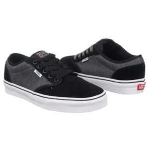 VANS Mens ATWOOD Skate Shoes BLACK HERRINGBONE 7 14 NB
