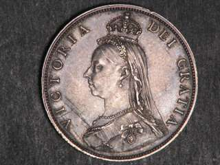 GREAT BRITAIN 1887 1 Florin Victoria Silver XF
