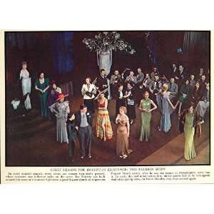 1934 Print Roberta Musical Comedy Stage Costume Gowns   Original Print