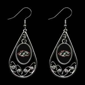 New Mexico Lobos Ladies Tear Drop Crystal Dangle Earrings