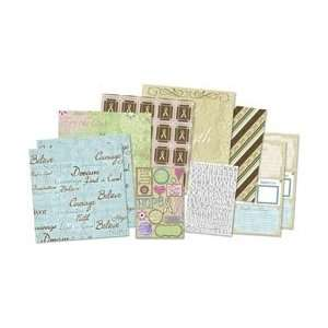 New   Karen Foster Hope Fight Cure Page Kit 12X12 by Karen