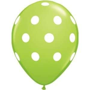 Lime Green Polka Dot Balloons, 100 count Lime Green Polka Dot