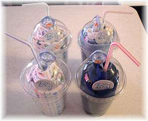 Its A Boy Baby Shower MIlkshake x4