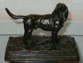 Antique Alfred Dubucand Bronze Dog Sculpture
