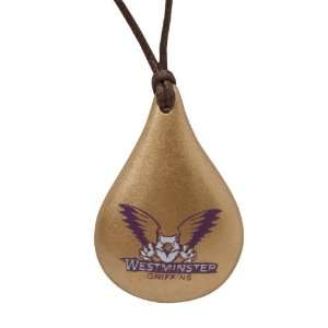 Dayna U Westminster Griffins Tear Drop Wood Necklace