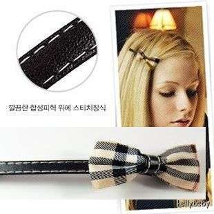 Beige Ribbon Bow Bowknot Long Barrette Clip Pin Hair Accessory New K90