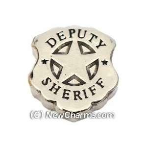 Police Deputy Sherrif Floating Locket Charm Jewelry