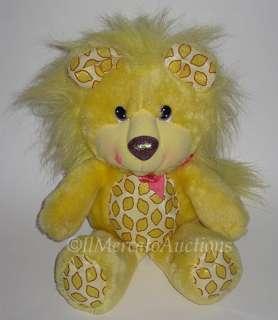 YUM YUMS Plush Yellow LUCKY LEMON LION Stuffed Animal Toy RARE