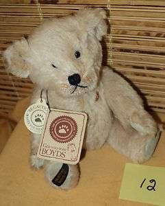 Boyds Mohair Teddy B. Bear 1 day 2001 Collectors Ed