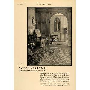 1925 Ad W J Sloane Furniture Interior Decoration Decor