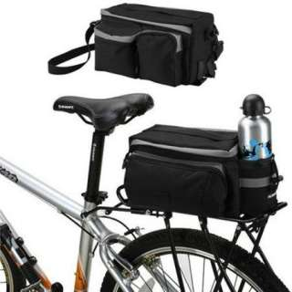 New Cycling Bicycle Bag Bike rear seat bag pannier Black