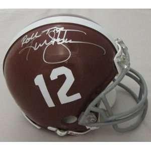 Ken Stabler Alabama Crimson Tide Signed Mini Helmet