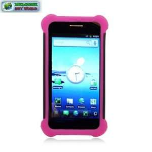 Case+ Black Hared Cover+hot Pink Slcn Case Cell Phones & Accessories