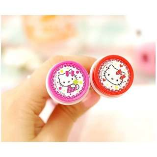 Hello Kitty Bubble Tumbler Stamp Ball Point PenSet of 2 Pens(Red