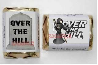 120 OVER THE HILL BIRTHDAY PARTY FAVORS CANDY WRAPPERS