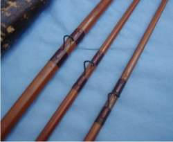 Vtg. Antique Hibbard Spencer Bartlett/ HSB & Co Bamboo Fly Fishing Rod