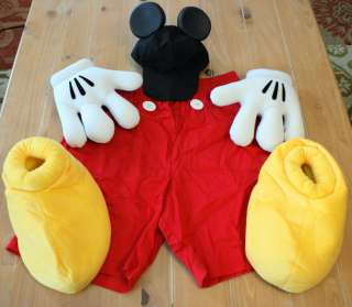 New  MICKEY MOUSE Costume Gloves Mens L   NO SHIRT