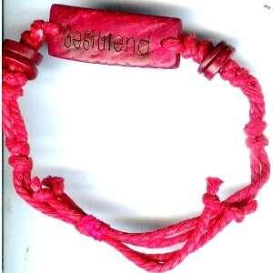 Best Friend Hemp Bracelet  Red Color  Adjustable