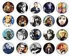 NIRVANA Kurt Cobain pin button BADGE / MAGNET SET ( 20